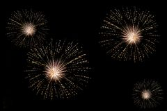 Fuochi d'artificio belli Immagini Stock Libere da Diritti