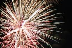 Fuochi d'artificio bianchi luminosi fotografia stock