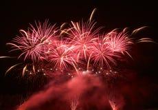 Fuochi d'artificio blu variopinti fondo, fuochi d'artificio festival, festa dell'indipendenza, il 4 luglio, libertà Fotografia Stock