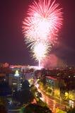 Fuochi d'artificio brillanti Immagini Stock Libere da Diritti