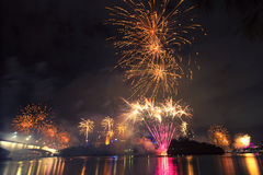 Fuochi d'artificio a Brisbane - 2014 Immagine Stock