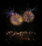 Fuochi d'artificio a Brno Fotografia Stock