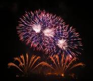 Fuochi d'artificio a Brno Immagini Stock