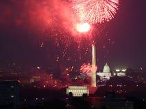 Fuochi d'artificio capitali Immagini Stock Libere da Diritti