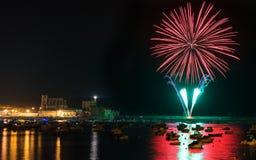 Fuochi d'artificio in Castro Urdiales Fotografia Stock