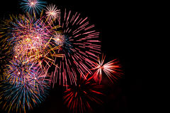 Fuochi d'artificio che esplodono Fotografia Stock Libera da Diritti