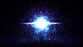 Fuochi d'artificio che saldano le particelle leggere del chiarore archivi video
