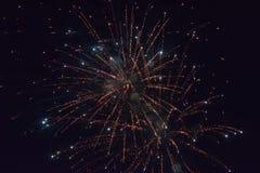 Fuochi d'artificio che scoppiano alla notte Fotografia Stock Libera da Diritti