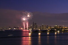 Fuochi d'artificio in Chicago Fotografia Stock
