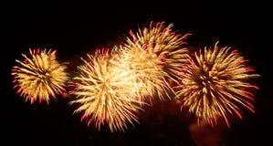 Fuochi d'artificio - cielo Fotografia Stock Libera da Diritti