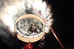 Fuochi d'artificio cilindrici Immagine Stock Libera da Diritti