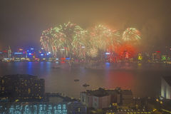 2015 fuochi d'artificio cinesi del nuovo anno Immagine Stock