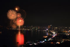 Fuochi d'artificio colorsful Fotografie Stock
