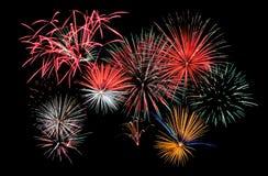 Fuochi d'artificio compositi Fotografia Stock