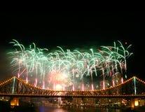 Fuochi d'artificio con Copyspace fotografia stock