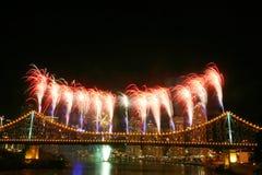 Fuochi d'artificio con Copyspace immagini stock