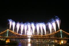 Fuochi d'artificio con Copyspace immagine stock libera da diritti