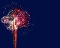 Fuochi d'artificio con Copyspace Immagini Stock Libere da Diritti