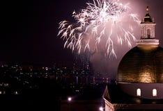 Fuochi d'artificio d'esplosione Immagini Stock Libere da Diritti