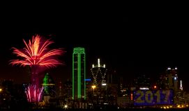 Fuochi d'artificio - Dallas il Texas Immagine Stock Libera da Diritti