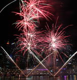 Fuochi d'artificio, Darling Harbour, Sydney Fotografia Stock