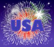 Fuochi d'artificio degli S.U.A. Immagini Stock