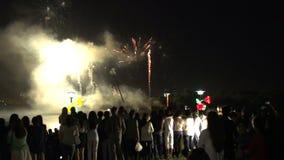 Fuochi d'artificio degli spettatori archivi video