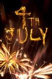 Fuochi d'artificio del 4 luglio Fotografie Stock Libere da Diritti