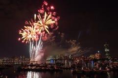 Fuochi d'artificio del 4 luglio Fotografia Stock