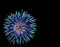 Fuochi d'artificio del Aqua e dell'azzurro Immagini Stock