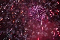 Fuochi d'artificio del castello di Praga Immagini Stock Libere da Diritti