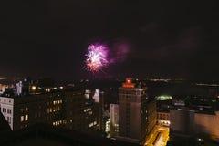 Fuochi d'artificio del centro, quarto luglio, di Memphis, TN Fotografia Stock Libera da Diritti