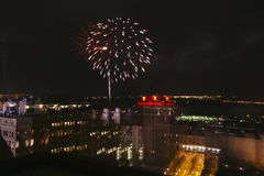 Fuochi d'artificio del centro, quarto luglio, di Memphis, TN Immagini Stock Libere da Diritti