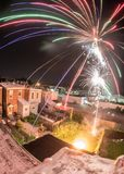 Fuochi d'artificio del cortile immagine stock