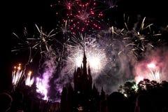 Fuochi d'artificio del Disney Immagine Stock Libera da Diritti