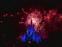 Fuochi d'artificio del Disney Fotografie Stock