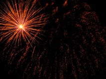 Fuochi d'artificio del fuoco d'artificio - foto di riserva Fotografia Stock