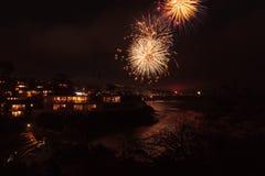 Fuochi d'artificio del Laguna Beach Fotografia Stock