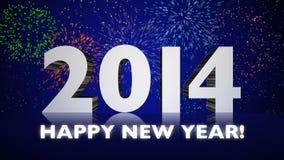 Fuochi d'artificio del nuovo anno 2014 Fotografie Stock