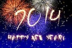 Fuochi d'artificio del nuovo anno Fotografia Stock Libera da Diritti