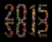 Fuochi d'artificio del nuovo anno 2015 Fotografia Stock Libera da Diritti