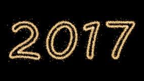 Fuochi d'artificio del nuovo anno 2017 Fotografia Stock Libera da Diritti