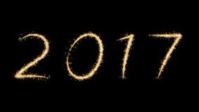 Fuochi d'artificio del nuovo anno 2017 Immagine Stock