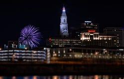 Fuochi d'artificio del nuovo anno di Hartford Connecticut Immagini Stock