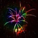 Fuochi d'artificio del Rainbow Fotografie Stock Libere da Diritti