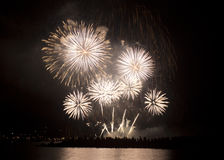 Fuochi d'artificio dell'oro fotografia stock libera da diritti