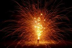 Fuochi d'artificio dell'Utah Immagine Stock