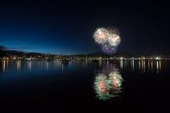 Fuochi d'artificio della città Immagine Stock Libera da Diritti