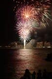 Fuochi d'artificio della Spagna Fotografia Stock