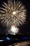 Fuochi d'artificio della spiaggia di Varna Immagini Stock Libere da Diritti